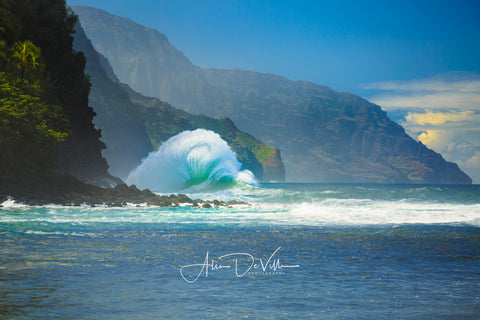 Fan Waves of the Na Pali ~ Fine Art Prints