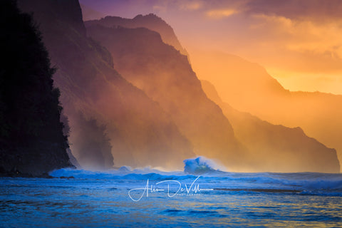 Golden Magic of Na Pali ~ Fine Art Prints