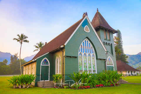 Wai oli Hui ia Church ~ Fine Art Prints