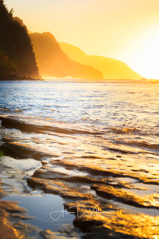 Na Pali Coast Gold ~ Fine Art Prints