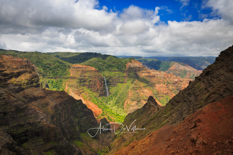Waimea Canyon & Waterfall ~ Fine Art Prints