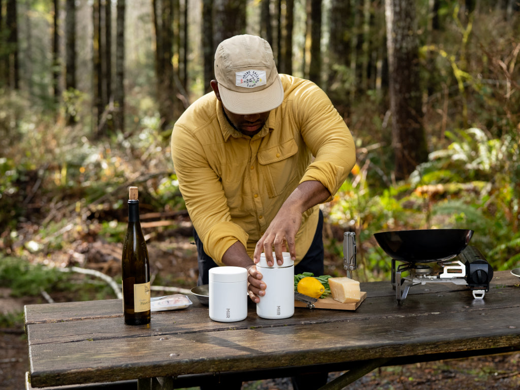 Camp Yoshi - Rashad cooking outdoors - Food Canister launch
