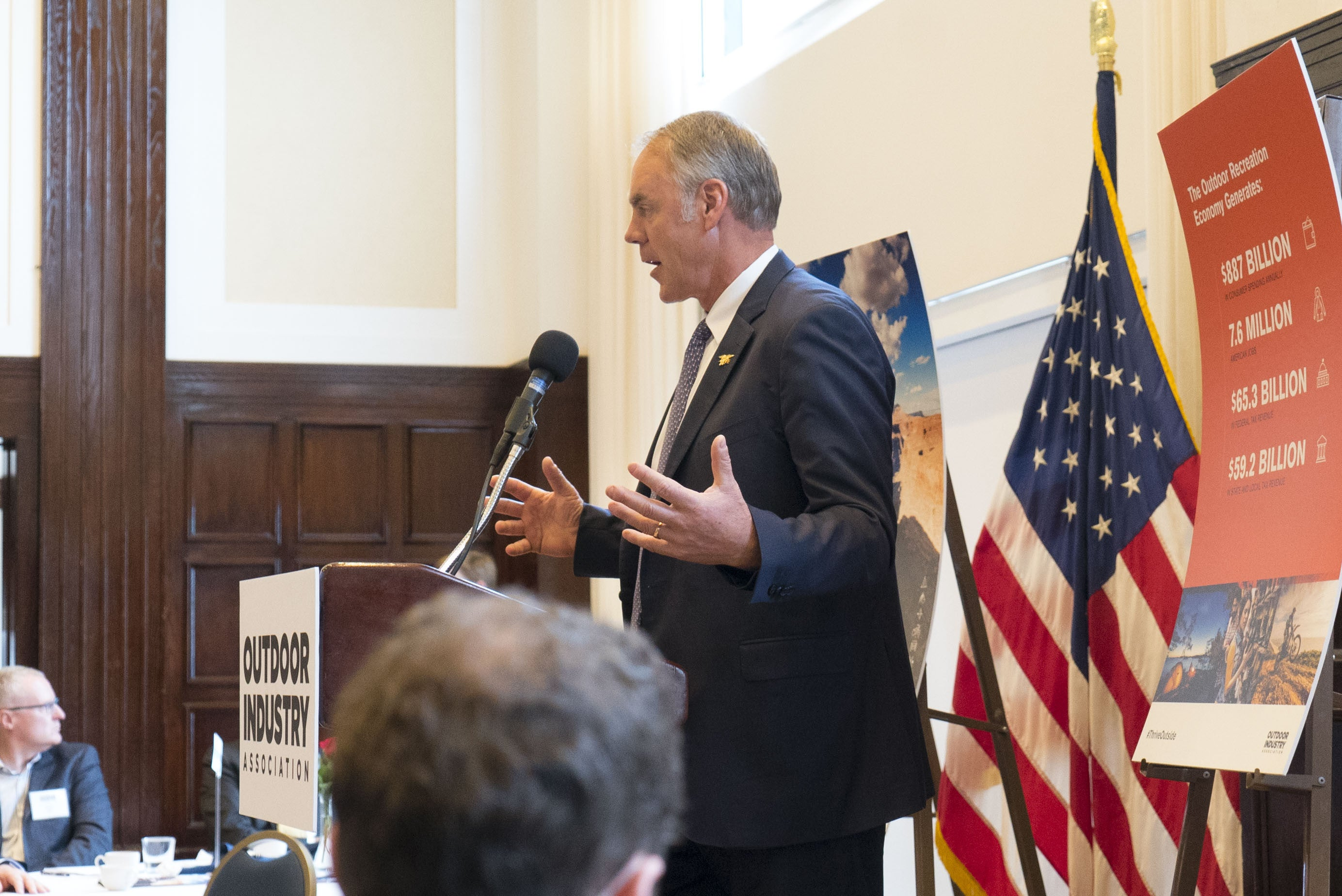 Secretary Zinke speaks at the OIA Capital Summit
