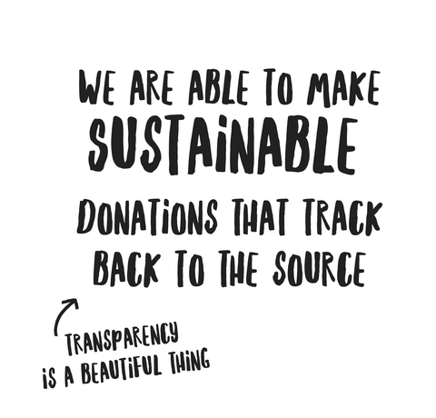 sustainable donations that track back to the source