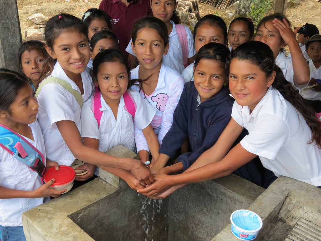 Washing hands in Honduras