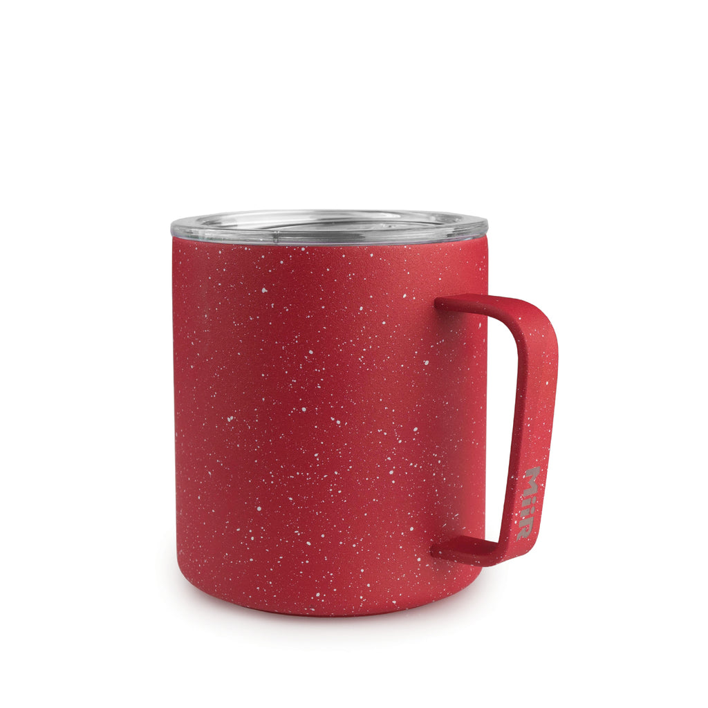 12oz Red Speckled Camp Cup