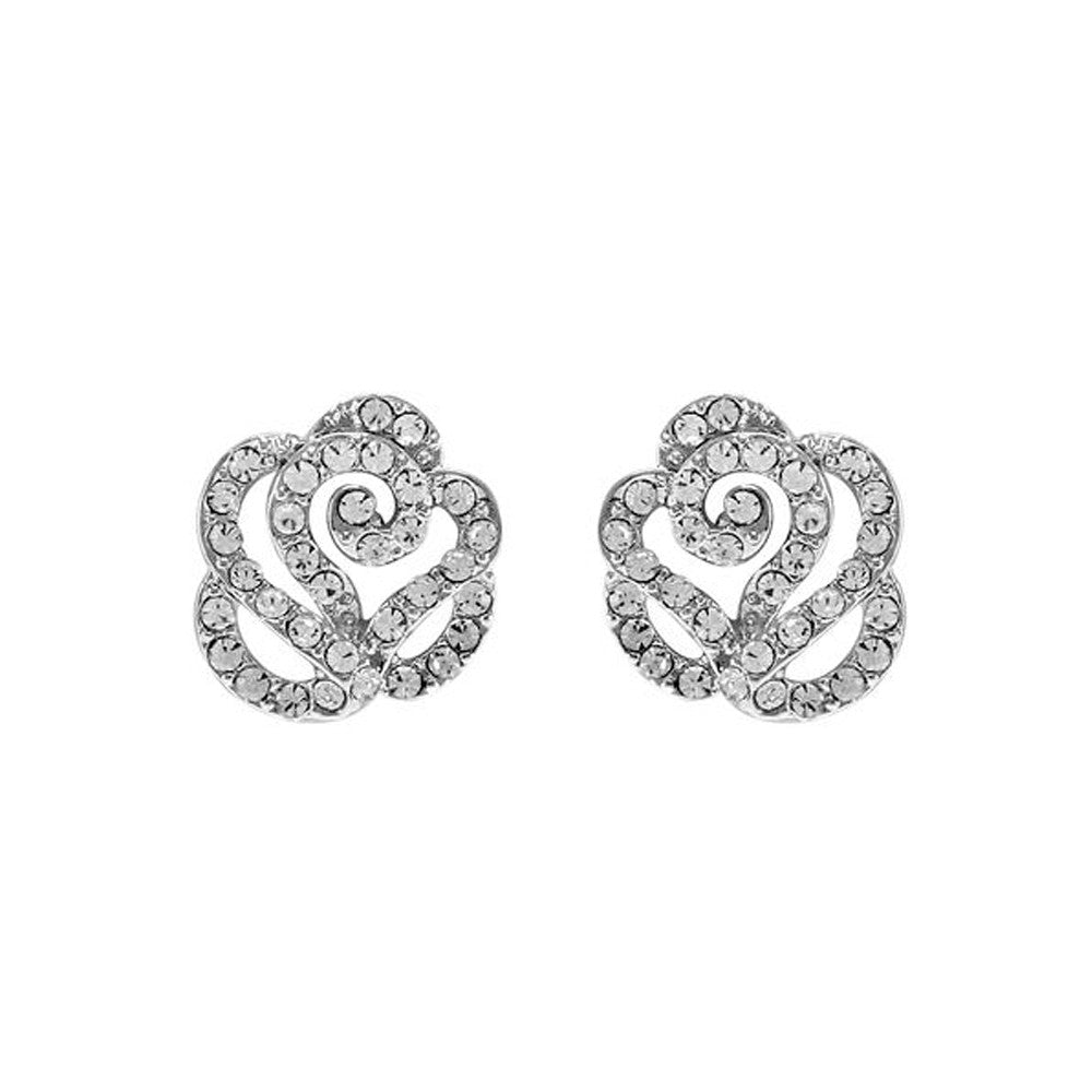 """Celestial"" Rose CZ Earrings"