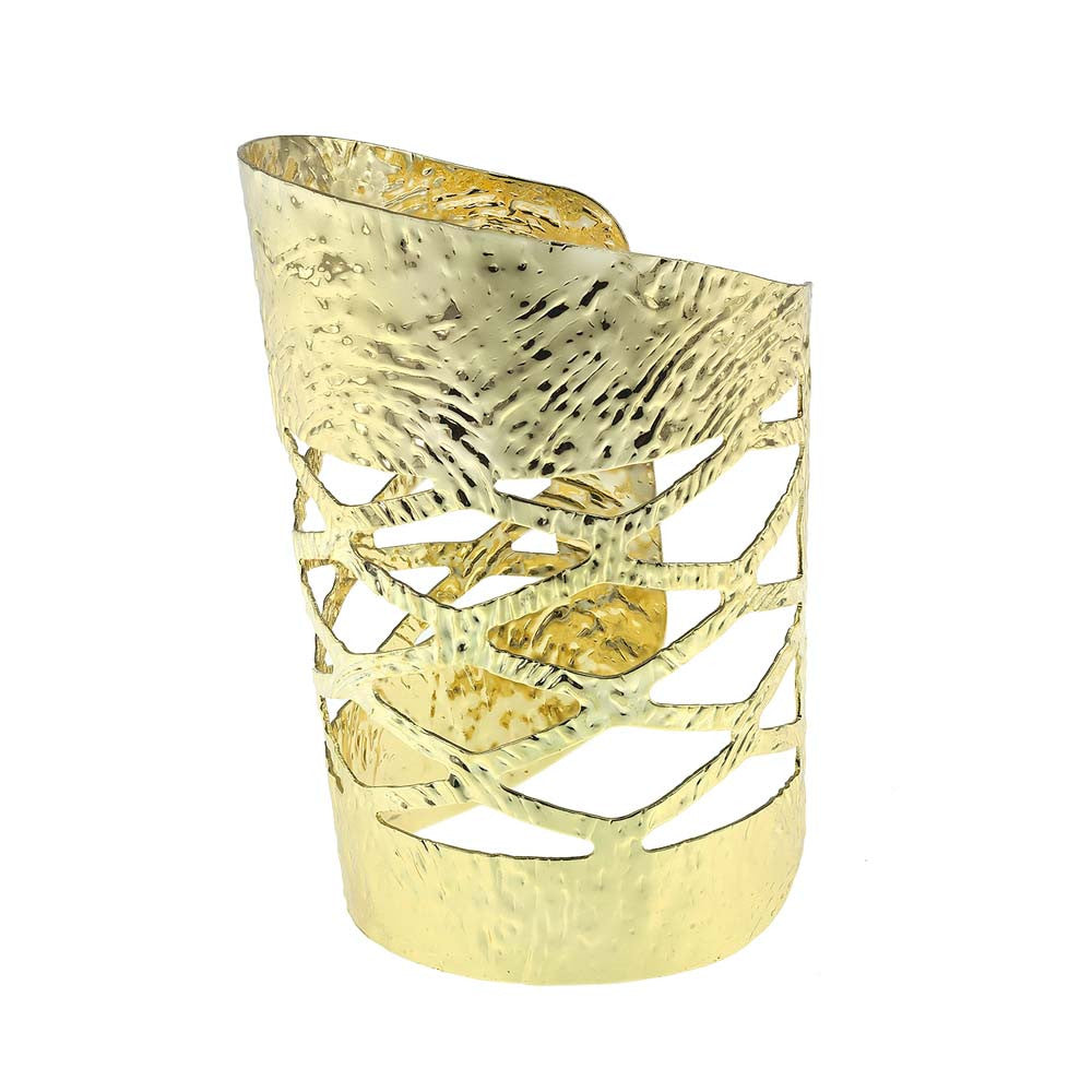 Re Pousee Gold Statement Cuff
