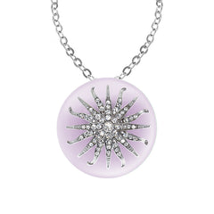 """Deco Starburst"" Lavender Ice Necklace"