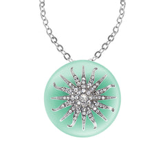 """Deco Starburst"" Mint Ice Necklace"