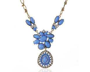 Aquatic Flower Power Statement Necklace Sales