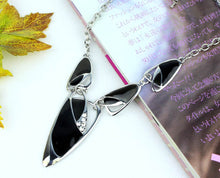 Black Galaxy Necklace Set
