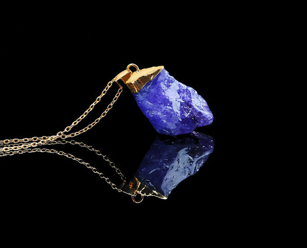 Hanged-Stone Nature inspired Pendant with Chain