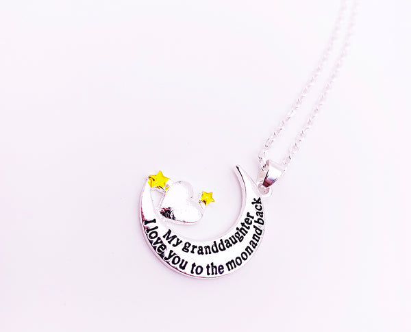 Sentimental Grandmother/Granddaughter Pendant Necklace With Initial