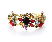 Multicolored Glitteratti Crystal Floral Style Bracelet