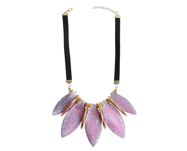 Petal Inspired Elliptical Necklace Sales