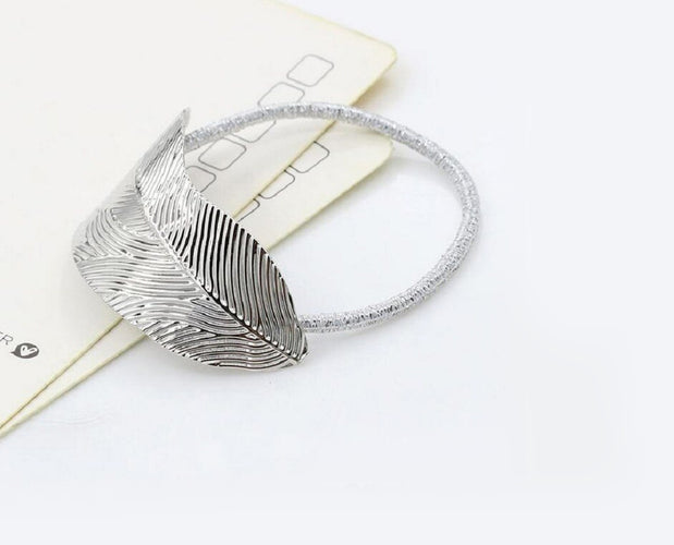 Glimmering Metallic Leaf Hair Accessory