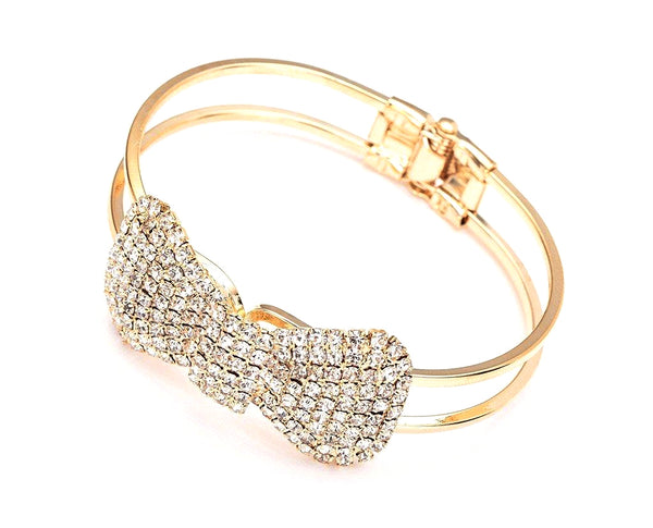 Bow Hinged Bracelet