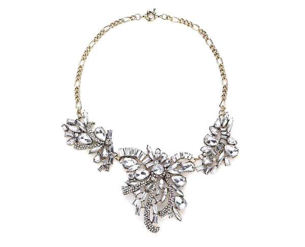 Sweet Romance Crystalized Vinatge Vibe Statement Necklace