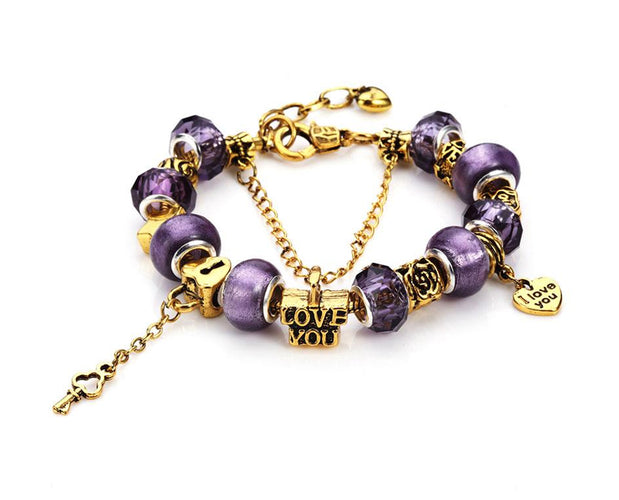 Profess My Love Charms Bracelet