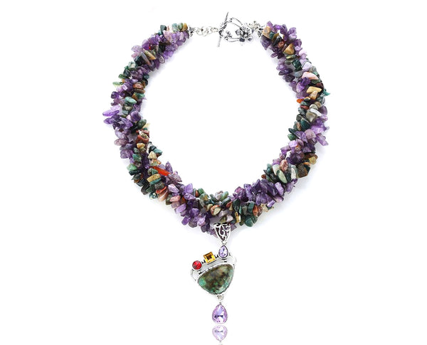 Cool Confetti Multi Stone Necklace