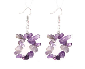 Hliotrope Quartz Crystal Hooked earrings