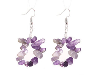Amethyst Quartz Hanging Earrings