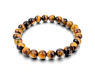 Tiger Eye Boho Beaded Bracelet