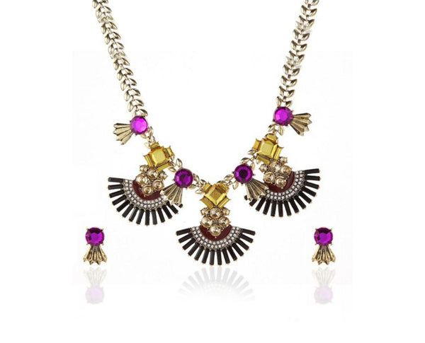 Tribal Exotic Fan Necklace Set Sales