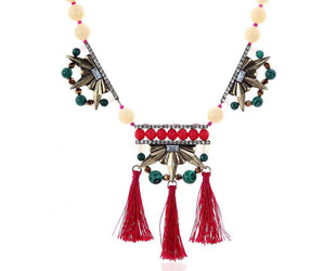 Tassel Princess Neutral Color Pop Statement Necklace