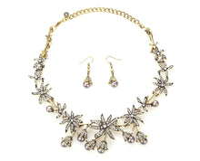 Gathered Lilies and Pearls Statement Jewelry Set