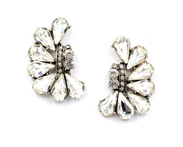 Whispering Butterfly Crystal Earrings