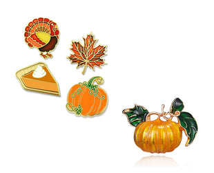 Autumn Flavors Brooch Set