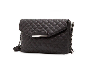 Quilted Clutch with Designer Chain