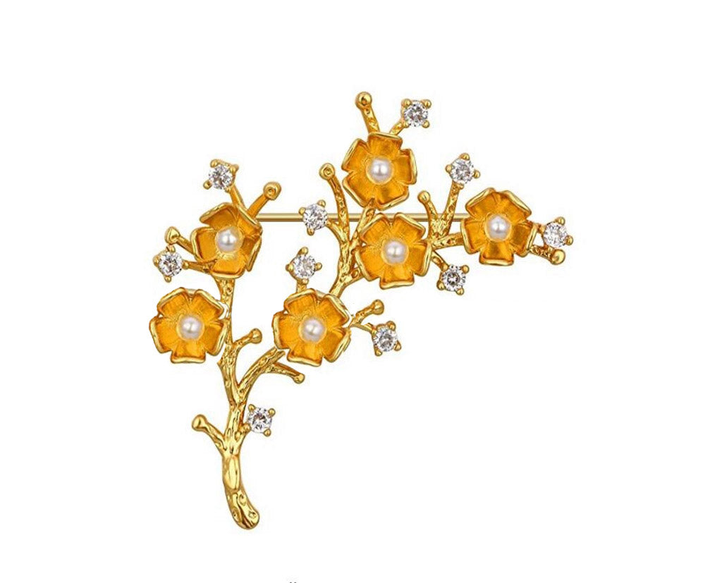 Orange Blossoms Brooch