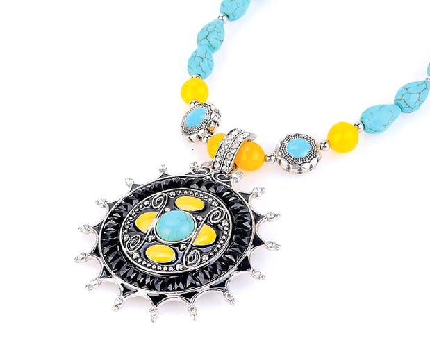 Boho Princess Turquoise Necklace