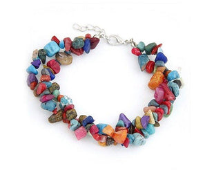 Stunning Double Layered Chip Multicolor Stone Bracelet