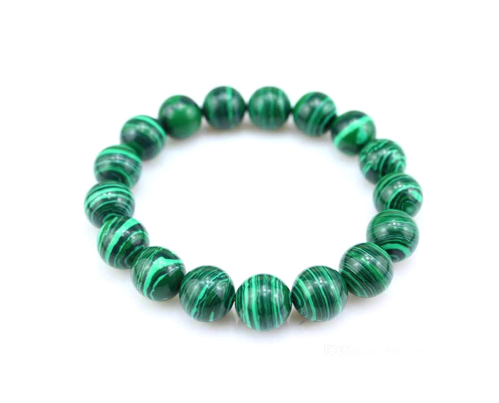 Elegant Malachite Beaded Bracelet