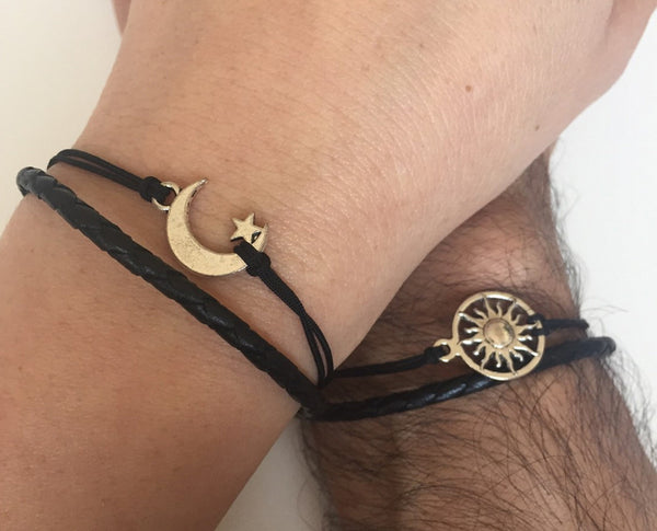 Sun and Moon Couple's Bracelets