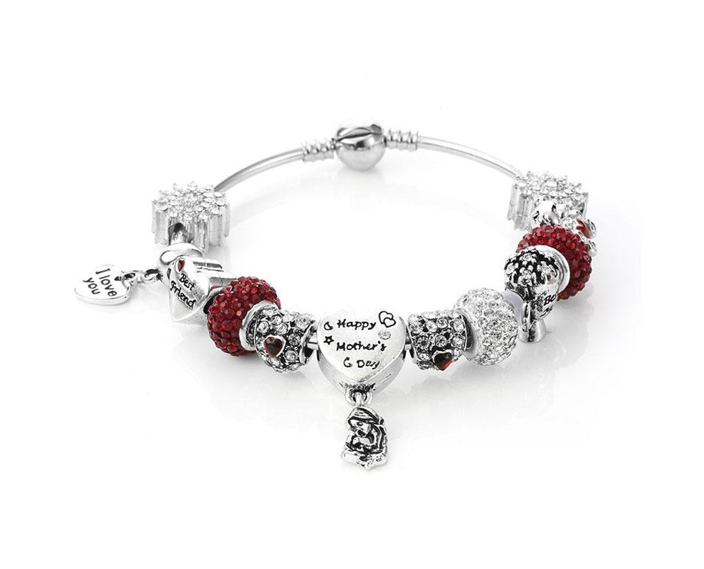 ef77fd8ab1f41 Happy Mothers Day Charm Bracelet
