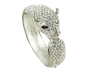 Night Cheetah Rhinestone Bangle