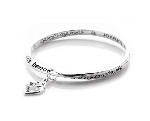 Mother Child Love Message Charm Bangle