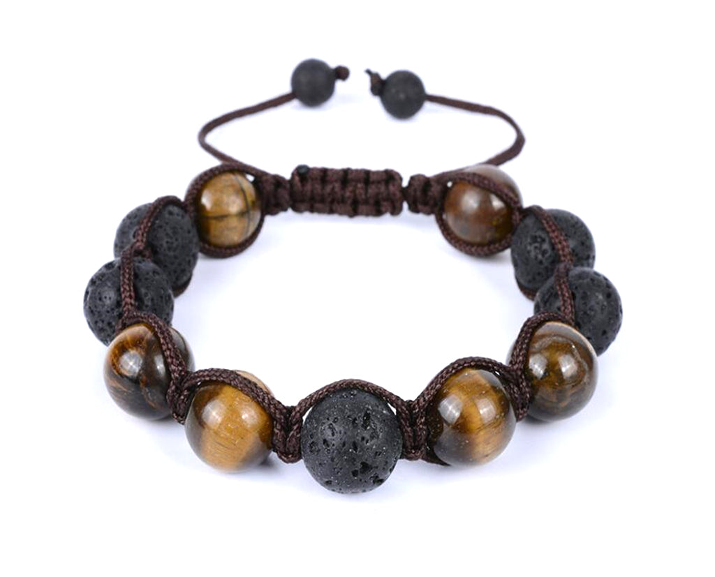 Coffee and Brown bead silk threaded bracelet
