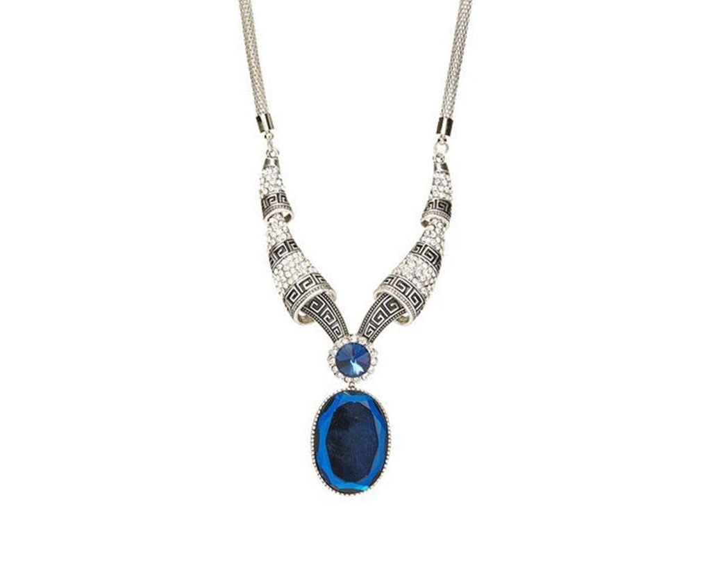 Glowing Royal Sapphire Vintage Necklace