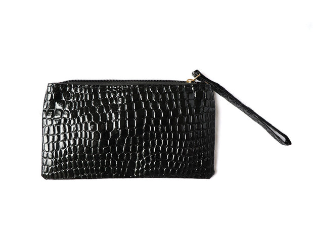 In The Zone Croc Pu Wristlet