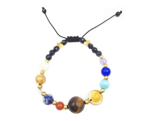 Colorful Solar System Beaded Bracelet