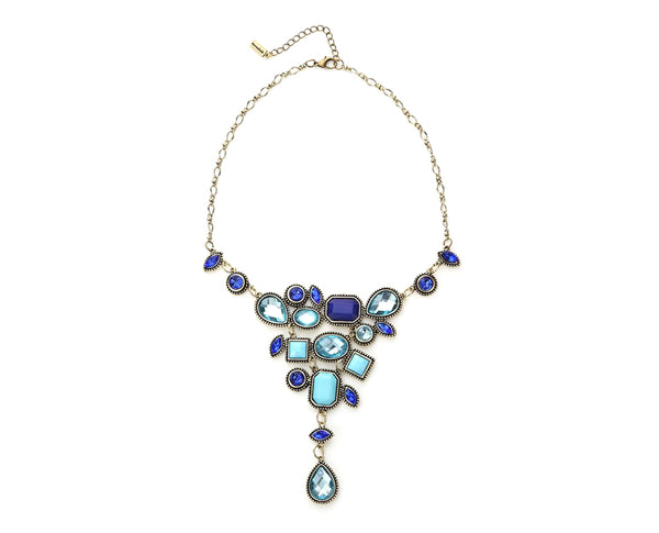 Lagoon Blues Mosaic Statement Necklace
