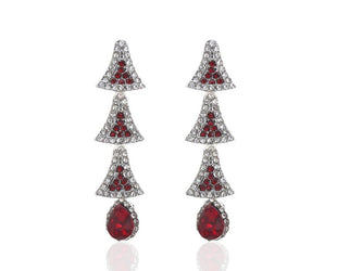 Christmas Tree Earrings-Cherry