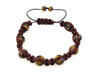 Adjustable Tiger Eye Beaded Bracelet Sales