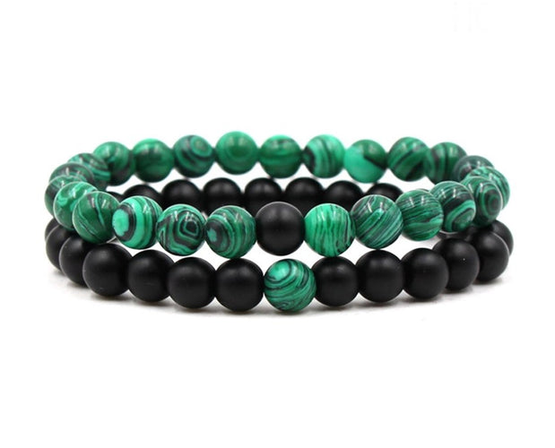 Simple Malachite Beaded Bracelet Sales